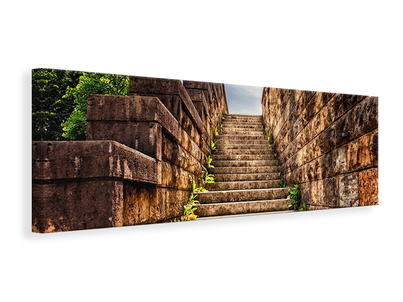 Panoramic Canvas Print stone stairs