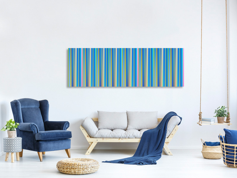 Panoramic Canvas Print Colored stripes