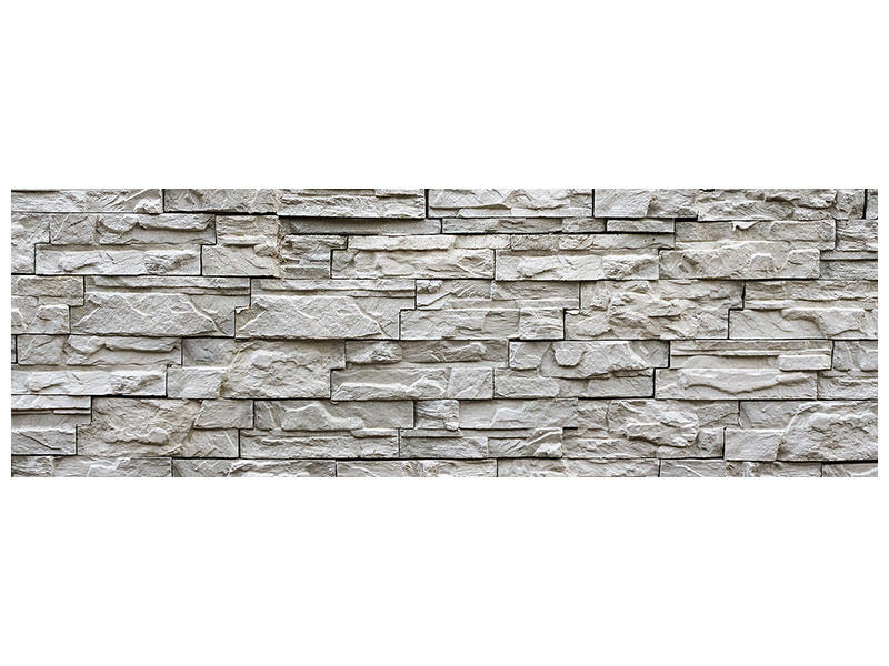 Panoramic Canvas Print Stone wall design