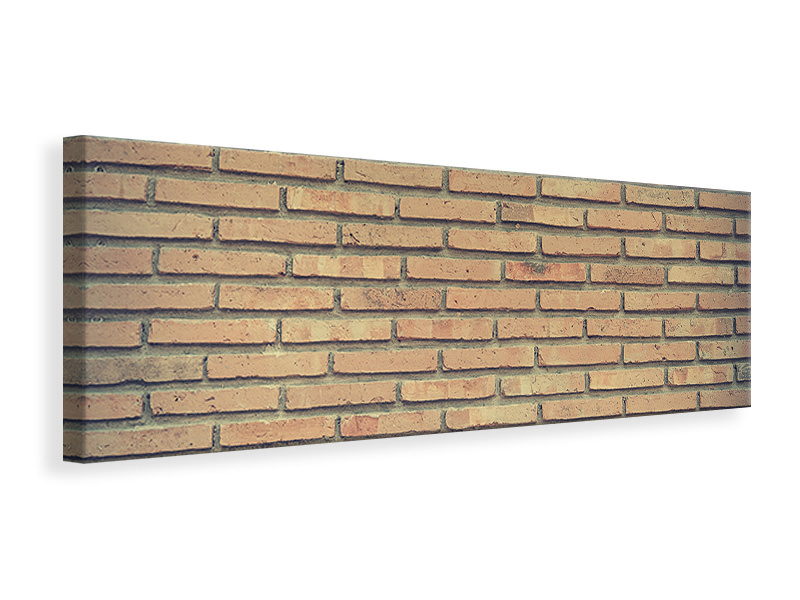Panoramic Canvas Print Classic brick wall