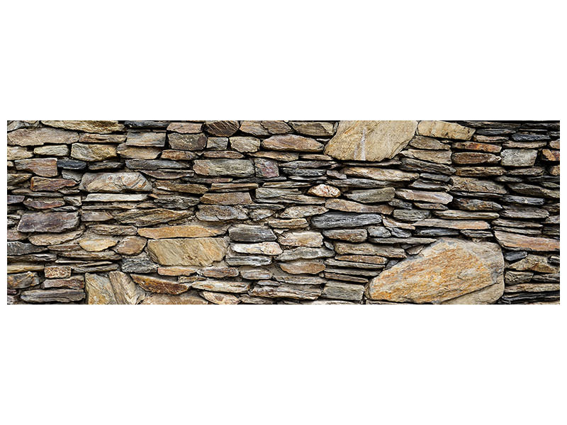 Panoramic Canvas Print Stone construction art