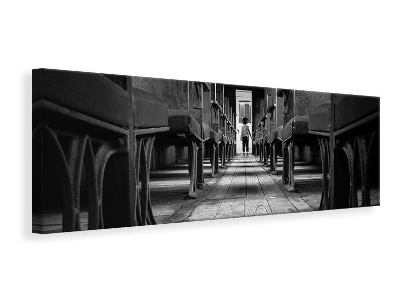 Panoramic Canvas Print Waiting A