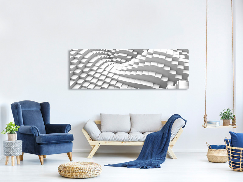 Panoramic Canvas Print 3D Elements