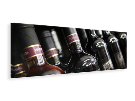 Panoramic Canvas Print Bottled Wines
