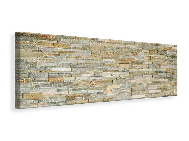 Panoramic Canvas Print Noble Stone Wall