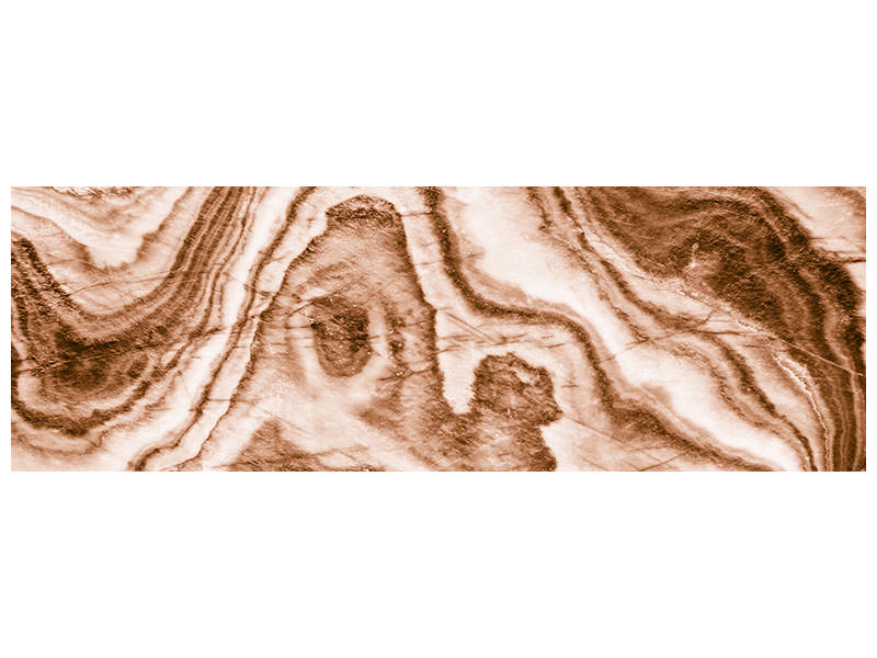 Panoramic Canvas Print Marble In Sepia