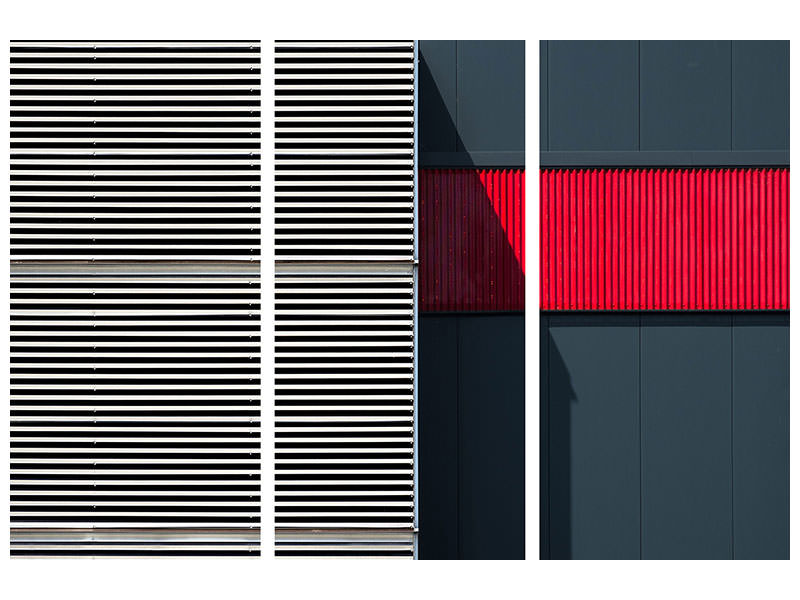 3 Piece Canvas Print Car Park