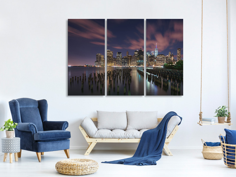 Tableau sur Toile en 3 parties New York City At Night