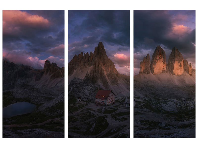 3 Piece Canvas Print Tre Cime