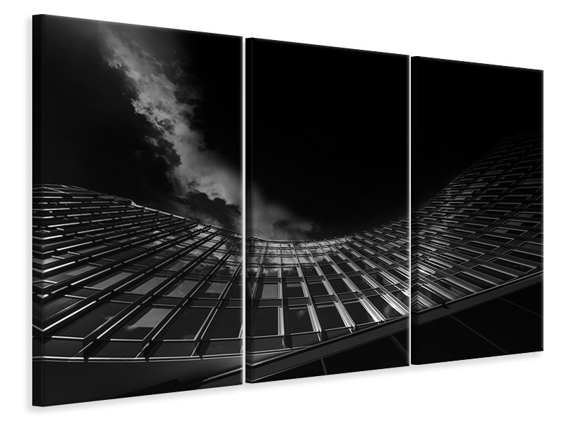 3 Piece Canvas Print Hit By A Cloud