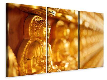 3 Piece Canvas Print Buddha