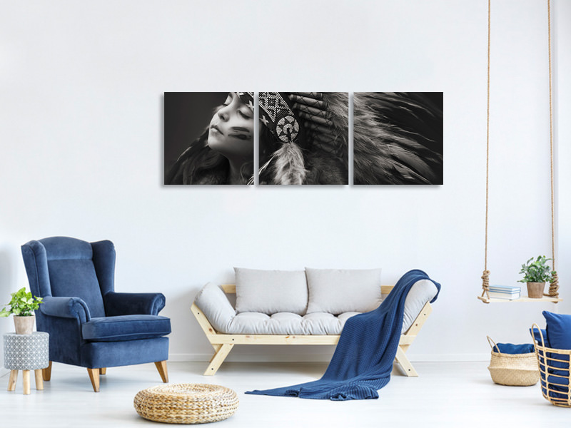 Panoramic 3 Piece Canvas Print Chief Of Her Dreams