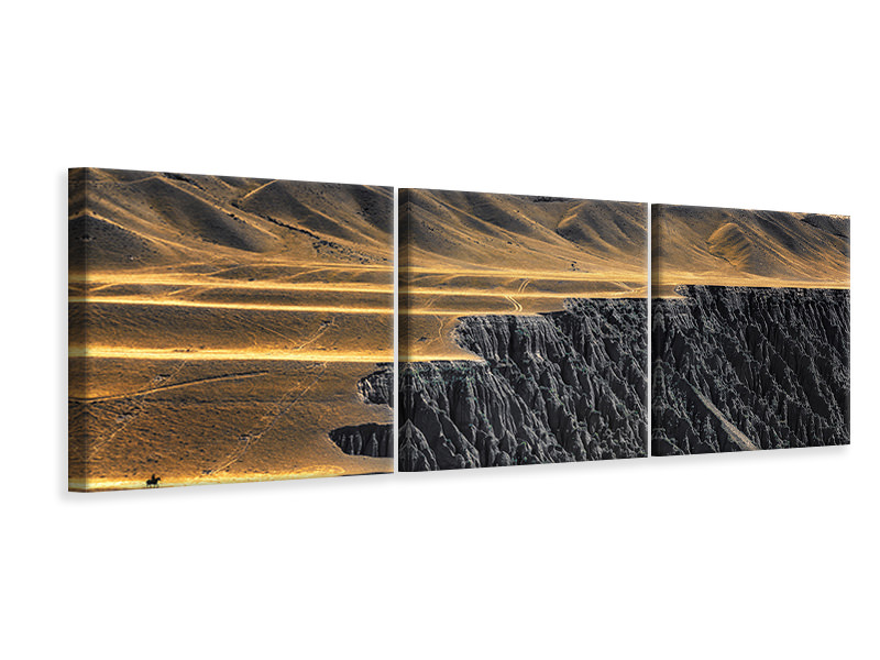 Panoramic 3 Piece Canvas Print The Wrinkles Of God