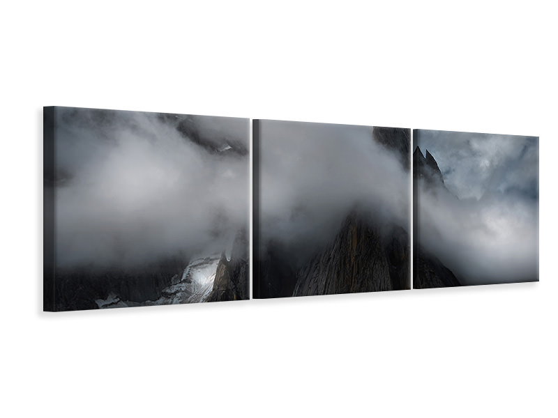 Panoramic 3 Piece Canvas Print The Karakoram