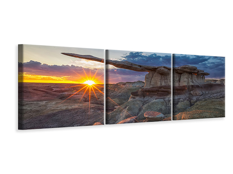 Panoramic 3 Piece Canvas Print Glory Of The King