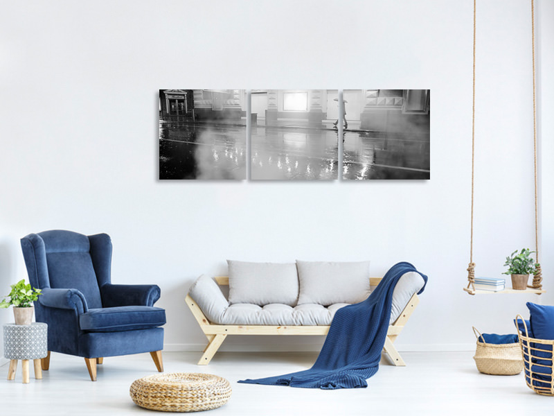 Tableau sur toile en 3 parties panoramique Manhattan Streets , New York City