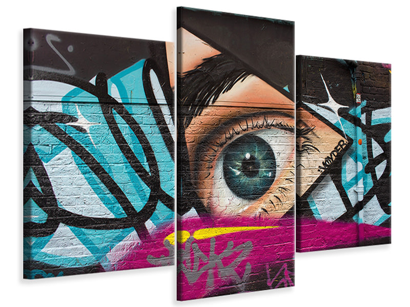 Stampa su tela 3 pezzi moderno Street Art The Eye