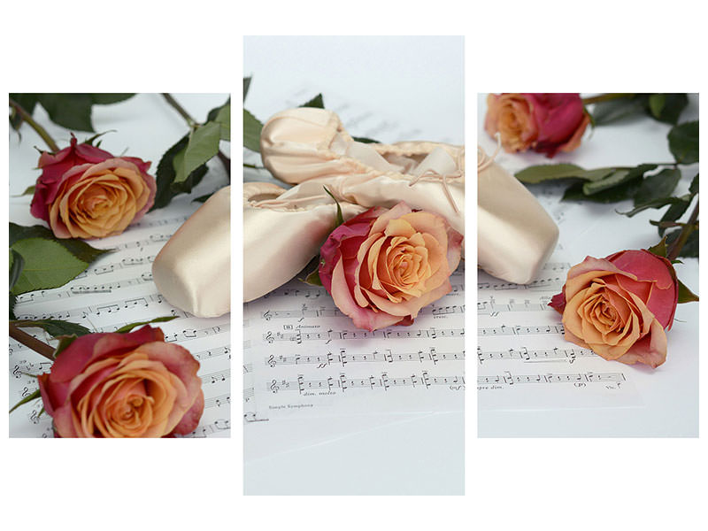 Modern 3 Piece Canvas Print Melody of love