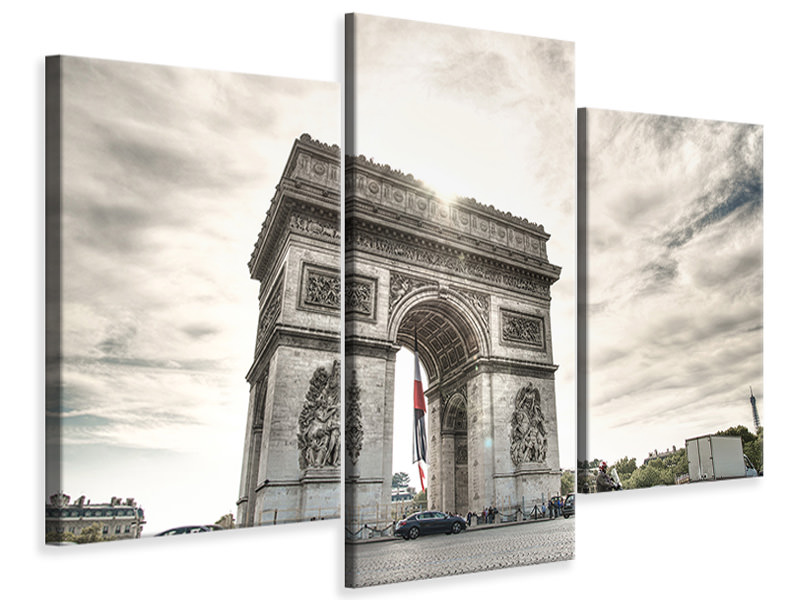 Modern 3 Piece Canvas Print Arc de Triomphe