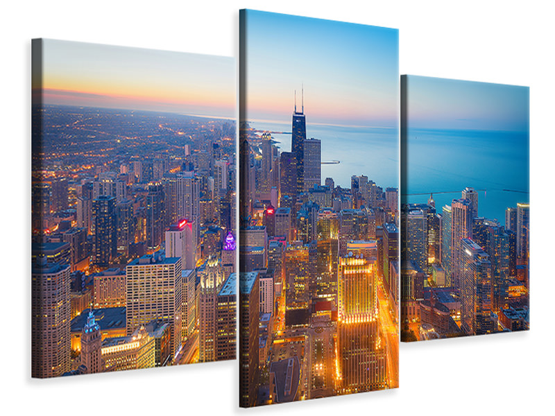 Modern 3 Piece Canvas Print The Magnificent Mile
