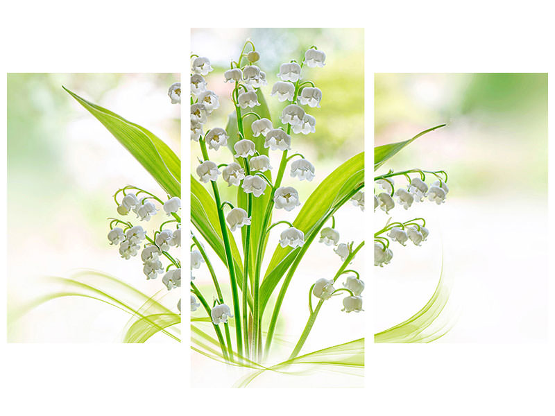 Stampa su tela 3 pezzi moderno Lily Of The Valley II
