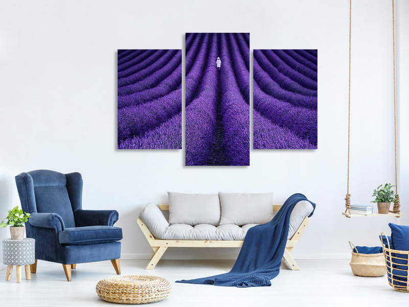 Modern 3 Piece Canvas Print She