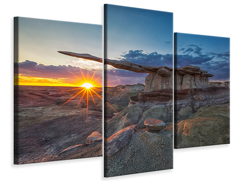 Modern 3 Piece Canvas Print Glory Of The King