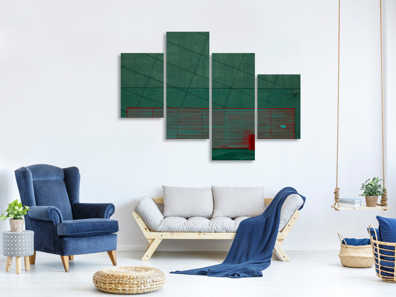 Modern 4 Piece Canvas Print Color Play