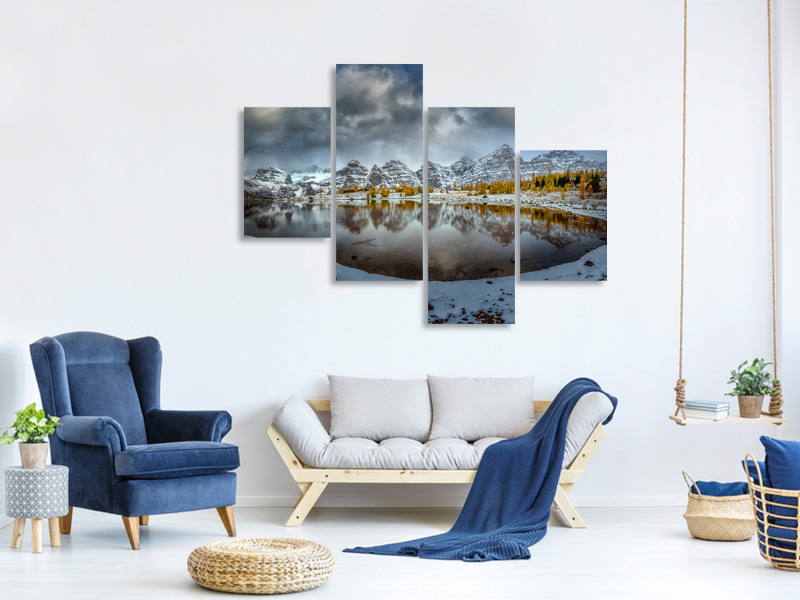Modern 4 Piece Canvas Print Ring Of Ten Peaks