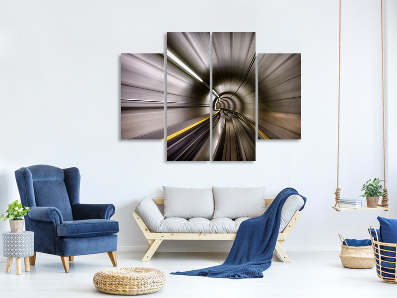 4 Piece Canvas Print In