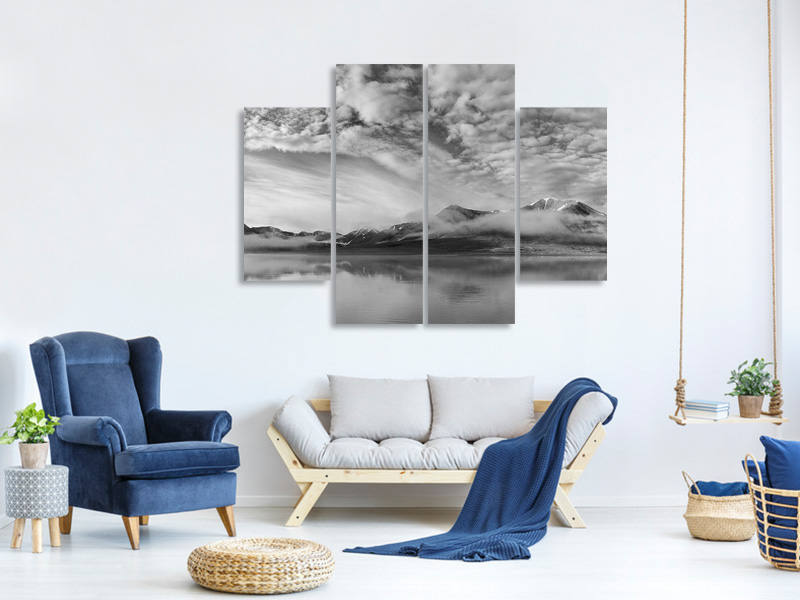 4 Piece Canvas Print Morning Mist