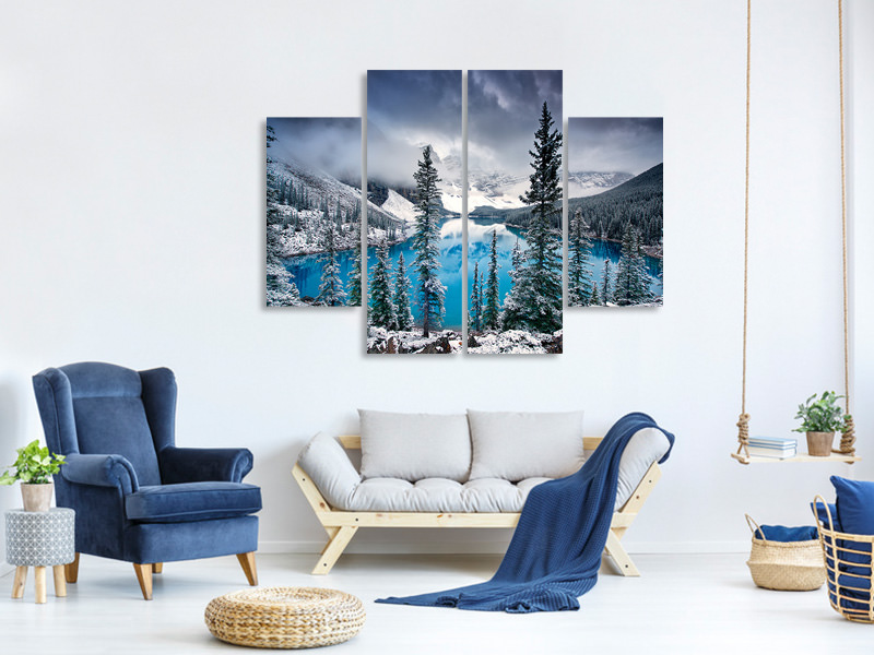Tableau sur Toile en 4 parties Morning Blues
