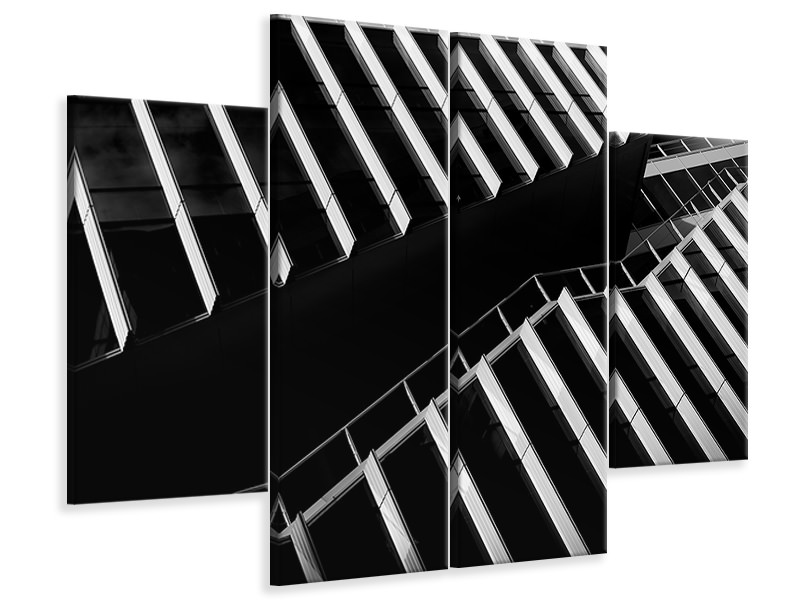 4 Piece Canvas Print Up Between The Facades