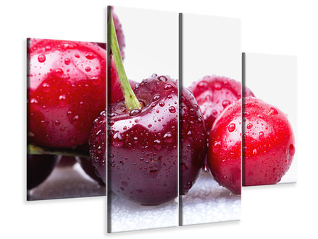4 Piece Canvas Print Cherries