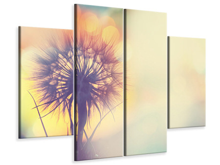 4 Piece Canvas Print The Dandelion In The Light