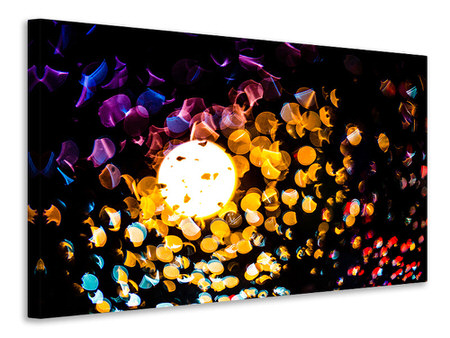 Canvas print Abstract play of light in color