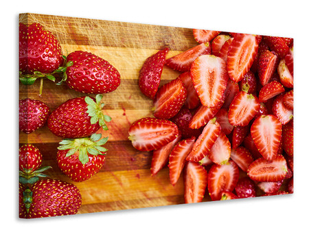 Canvas print Fresh strawberries