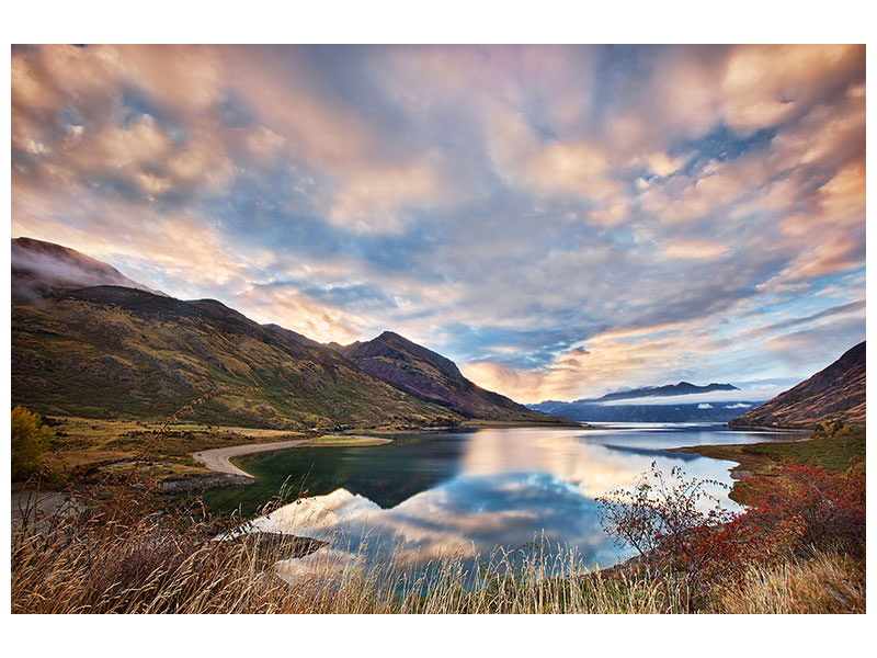 Tableau sur toile Morning Delight At Lake Hawea
