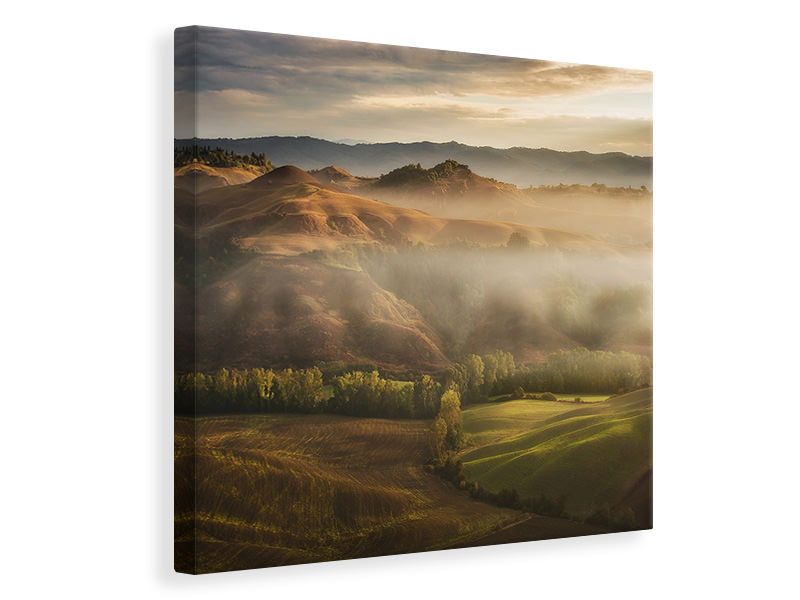 Canvas print Mystical Waving Fields Tuscany