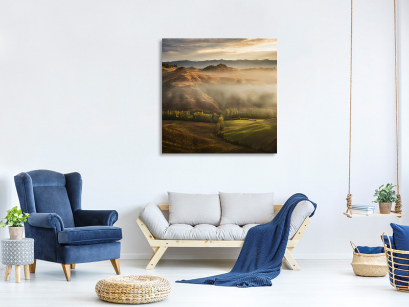 Tableau sur toile Mystical Waving Fields Tuscany