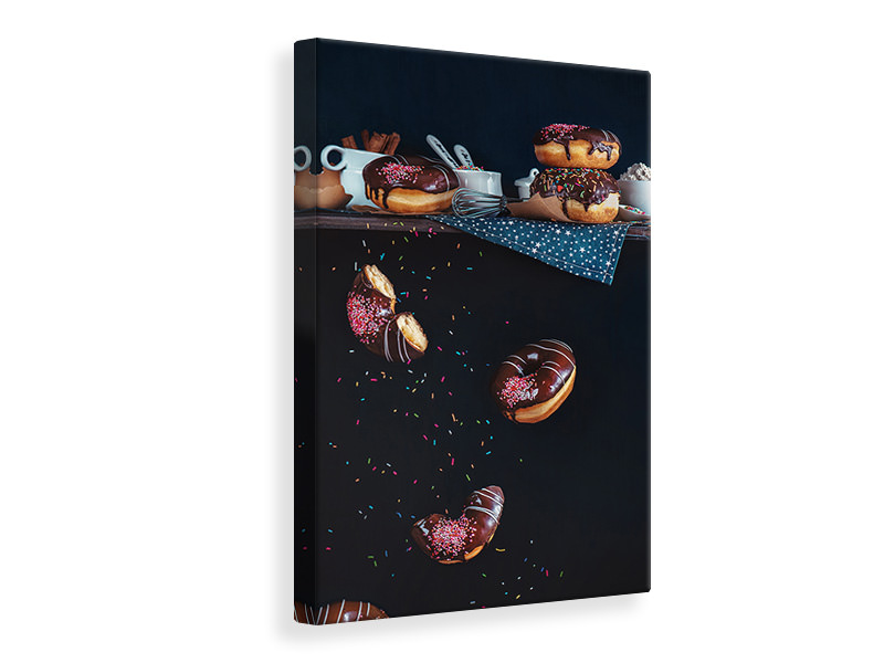 Tableau sur toile Donuts From The Top Shelf