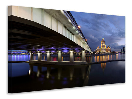 Canvas print Bridge At Night