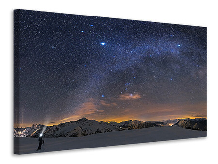 Canvas print Under The Starbow