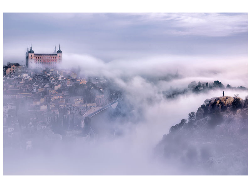 Canvas print Toledo City Foggy Morning