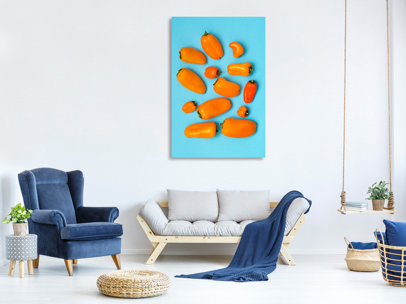 Tableau sur toile Orange And Blue