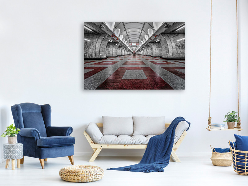Canvas print Prague Metro