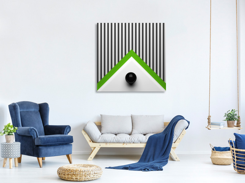 Canvas print Dot On Triangle