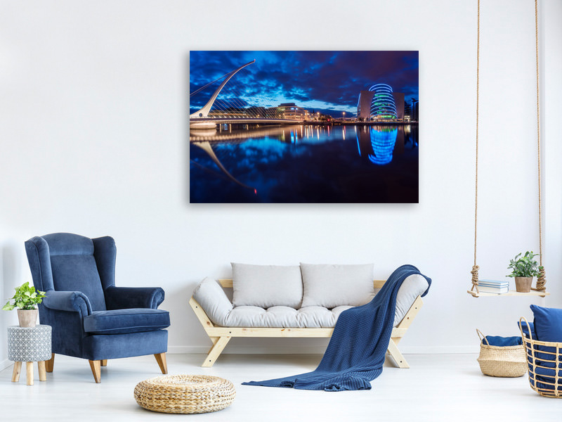 Canvas print Dublin - Samuel Beckett Bridge