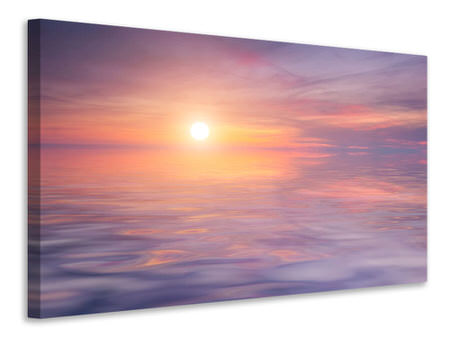 Canvas print Sunset by the Lake