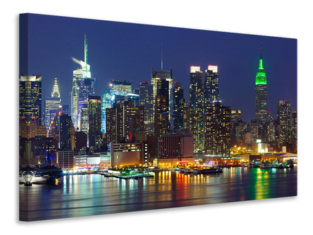 Canvas print Skyline New York Midtown At Night